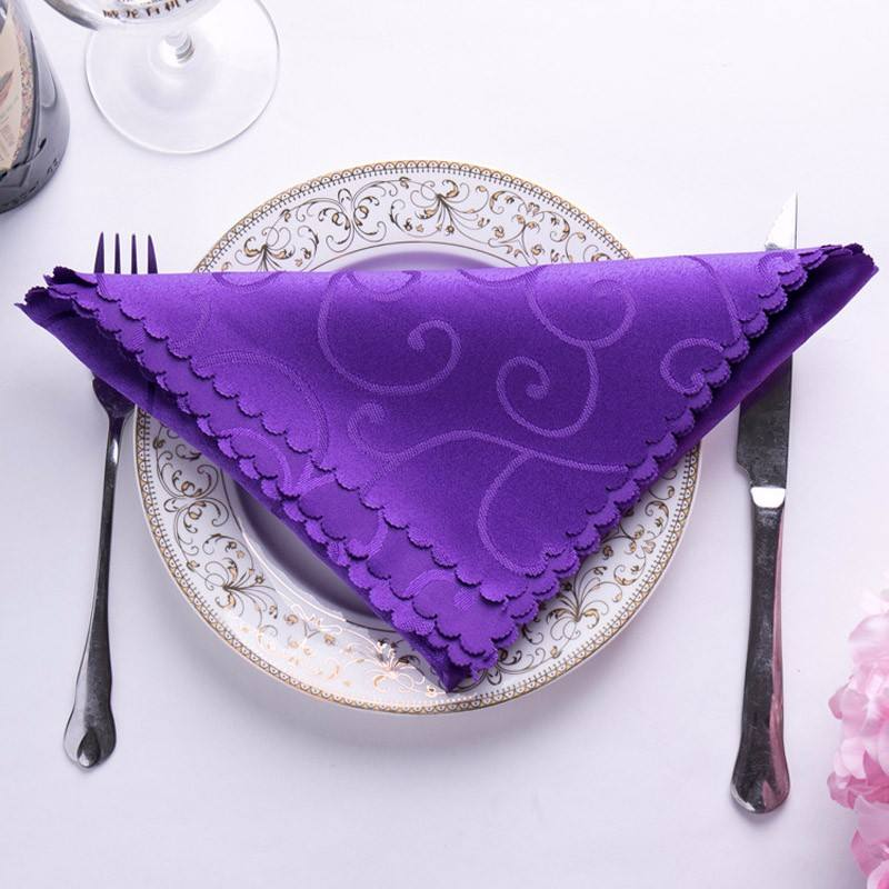 Jacquard polyester wedding table colorful napkin