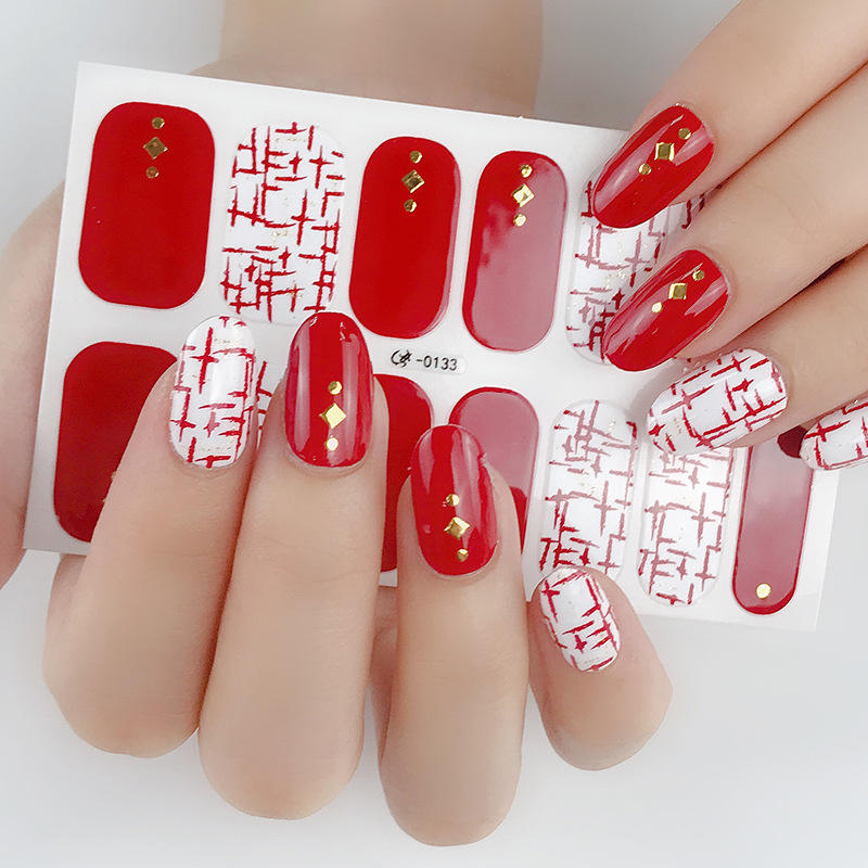 2020 Terbaik Jual Flash Emas Stiker Fashion Nail Art