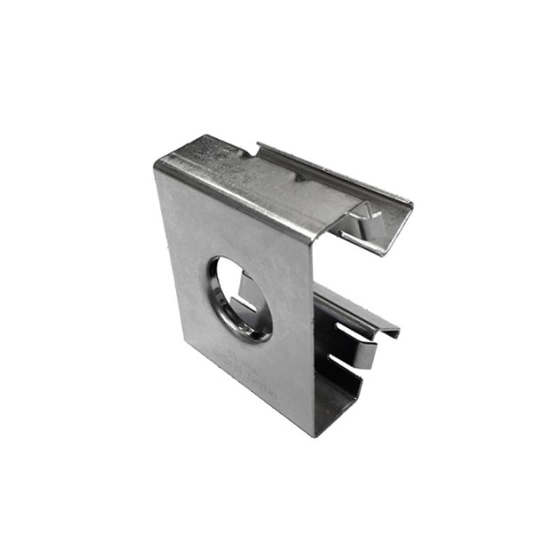"Stainless steel anchor rail adapter with 3/4"" hole"