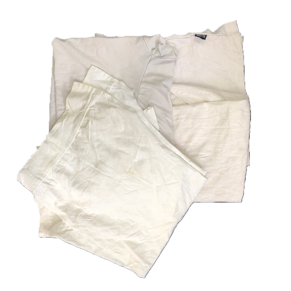 2019 hot selling in USA industrial oil cleaning 25kg bale white t shirt rags