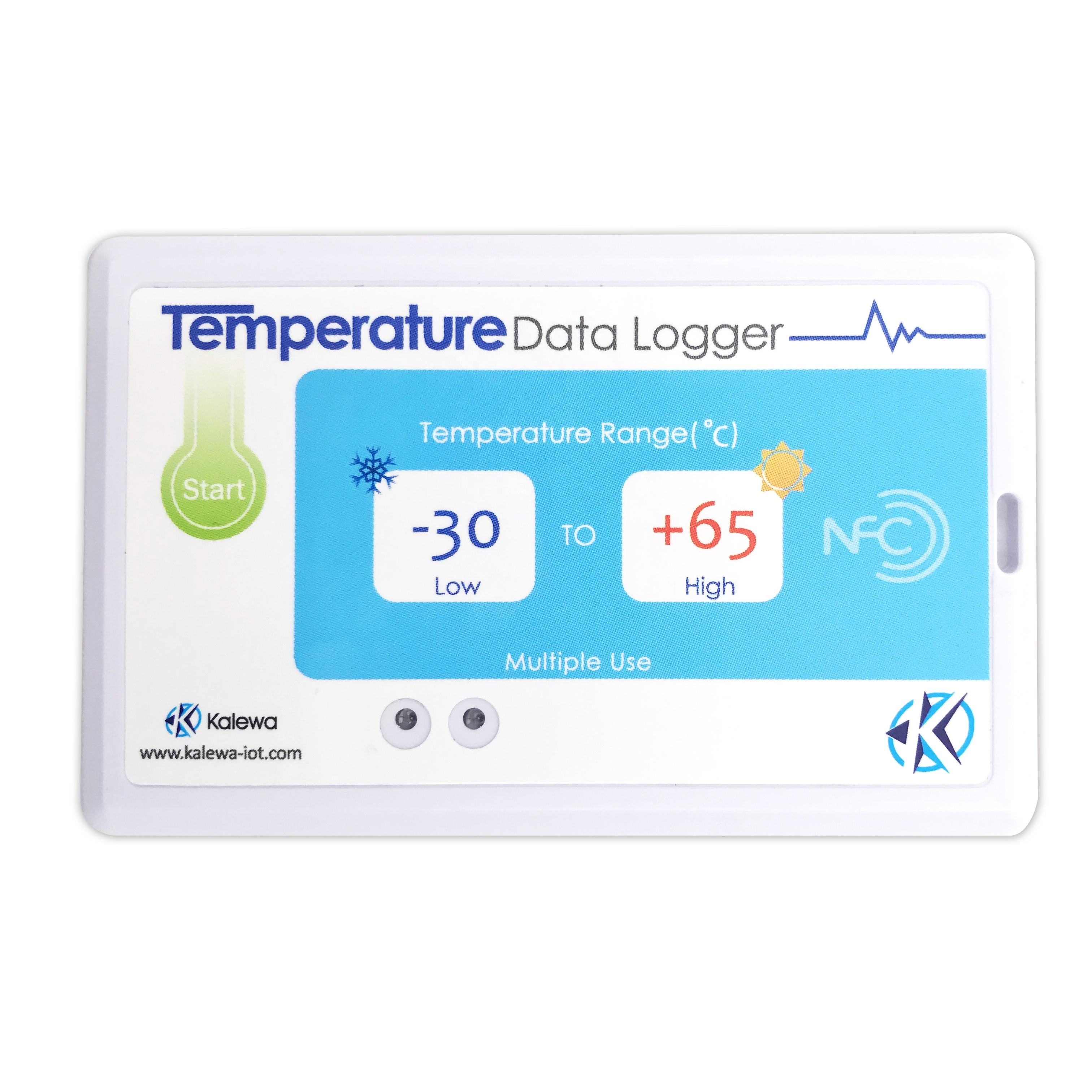 RFID Dual frequency Temperature monitoring PDF cold chain Data Logger