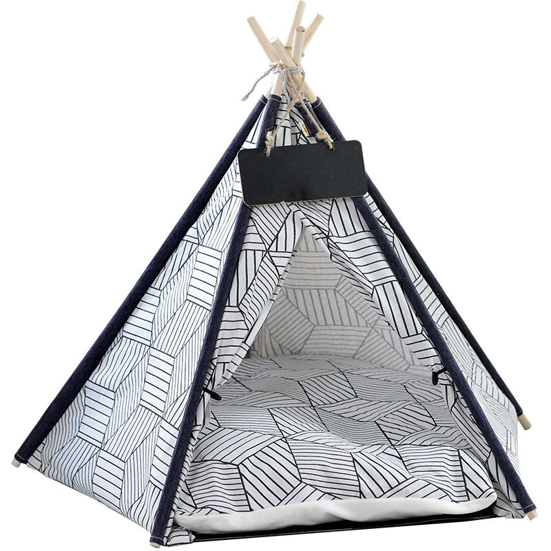 Wholesale Factory Outdoor Camping China Portable Pet Dog Cat Teepee Bed Tent For Dogs