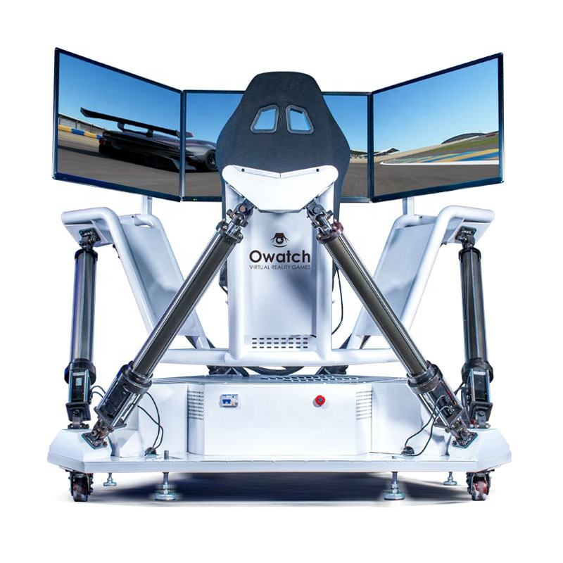 NEW Virtual Entertainment 9D VR Racing Simulator Machine Three Screen