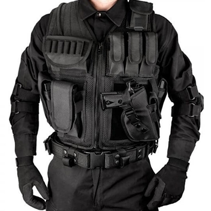 Wholesale Police Army Tactico Militar Security Airsoft Molle Military Tactical Safety Vest Black