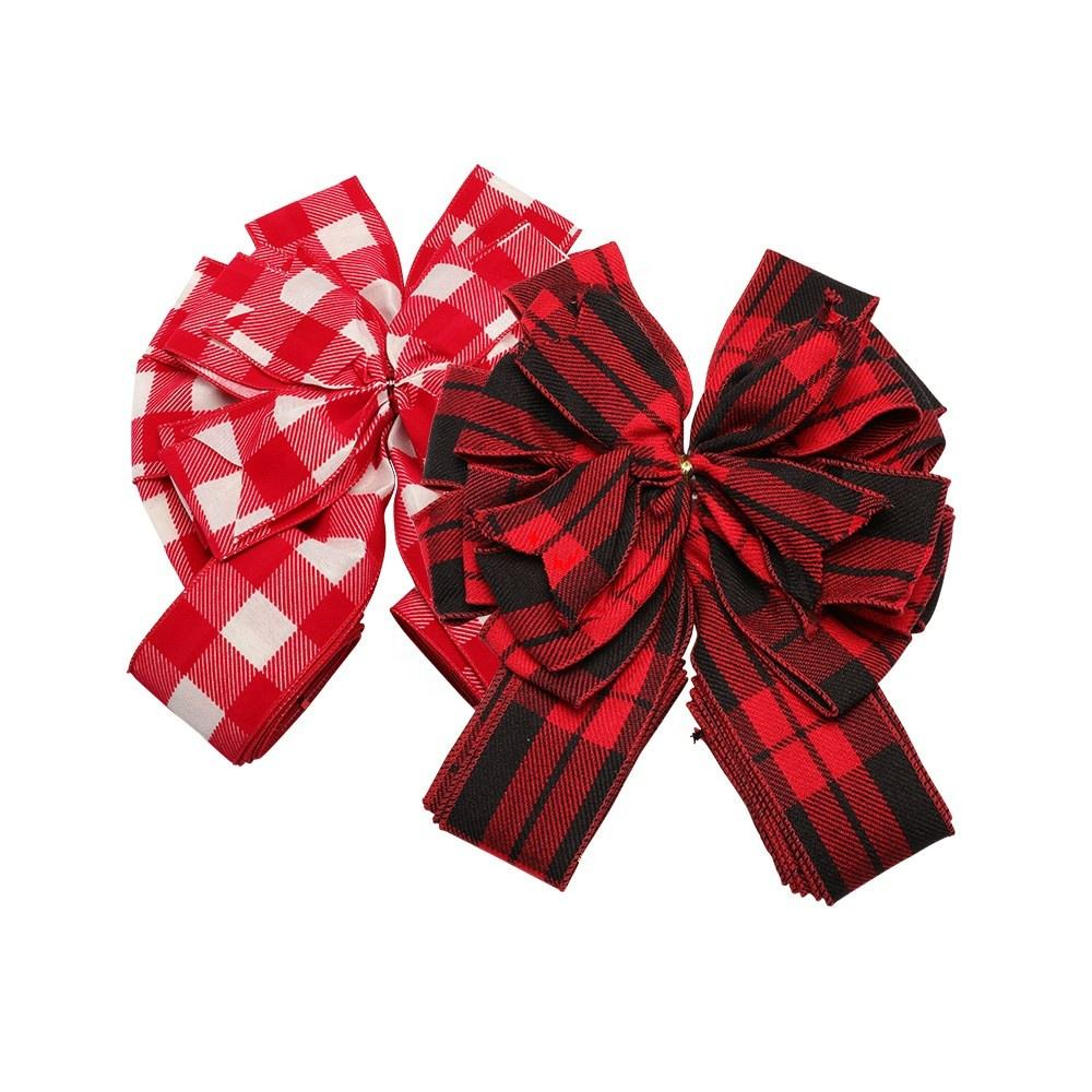 Factory produced best price metallic gift box bow christmas metallic bows with ribbons