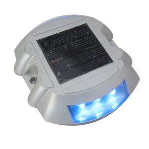 CE certificated 6 led blue driveway decks solar dock dots lights