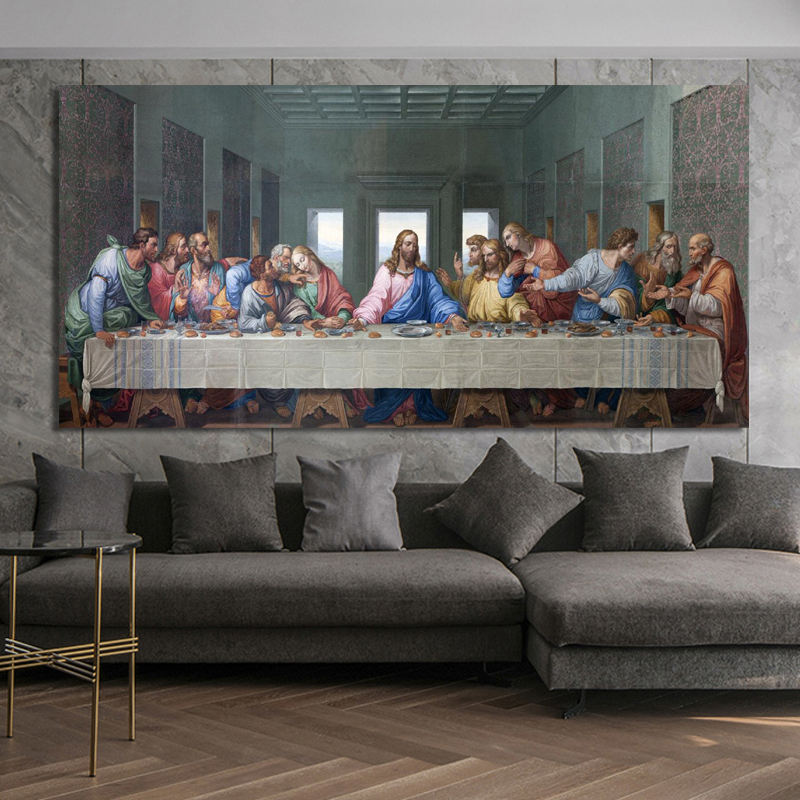 Leonardo Da Vinci's The Last Supper Posters and Print Wall Art Canvas Painting Famous Painting Art for Living Room Cuadros