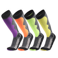 Wholesale Knee High Custom Warming Ski Hiking Long Sport Thicken Warm Climbing Socks Terry Cushion Pad Snowboarding Socks Skiing