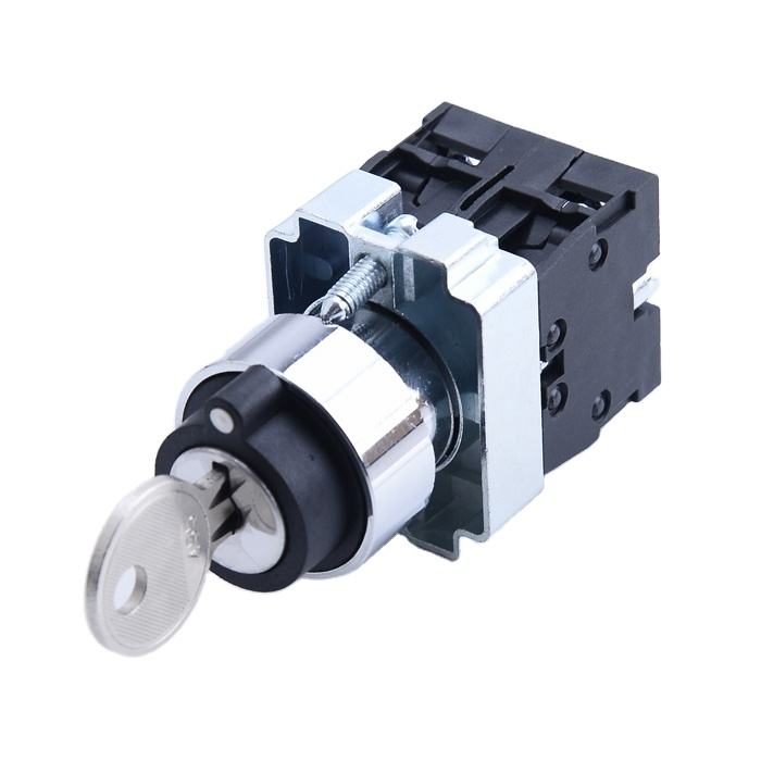 XB2 BG33 3 position key operated selector 2N/O push button switch