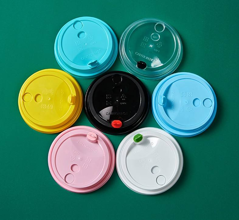 PP injection Plastic Cup Heart Lids Hard plastic injection lids for bubble tea milk tea coffee