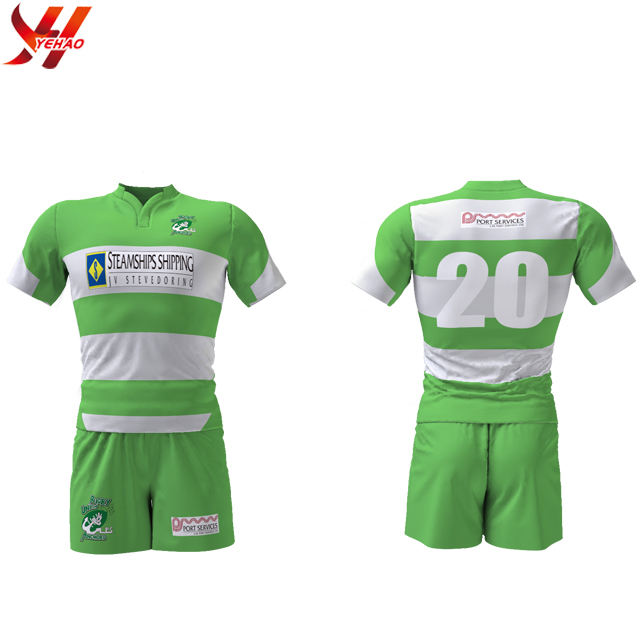 2019 Wholesale Cheap China Sublimated Rugby Jersey fit Couple Sport Uniforms Cool Team Shirt Customized