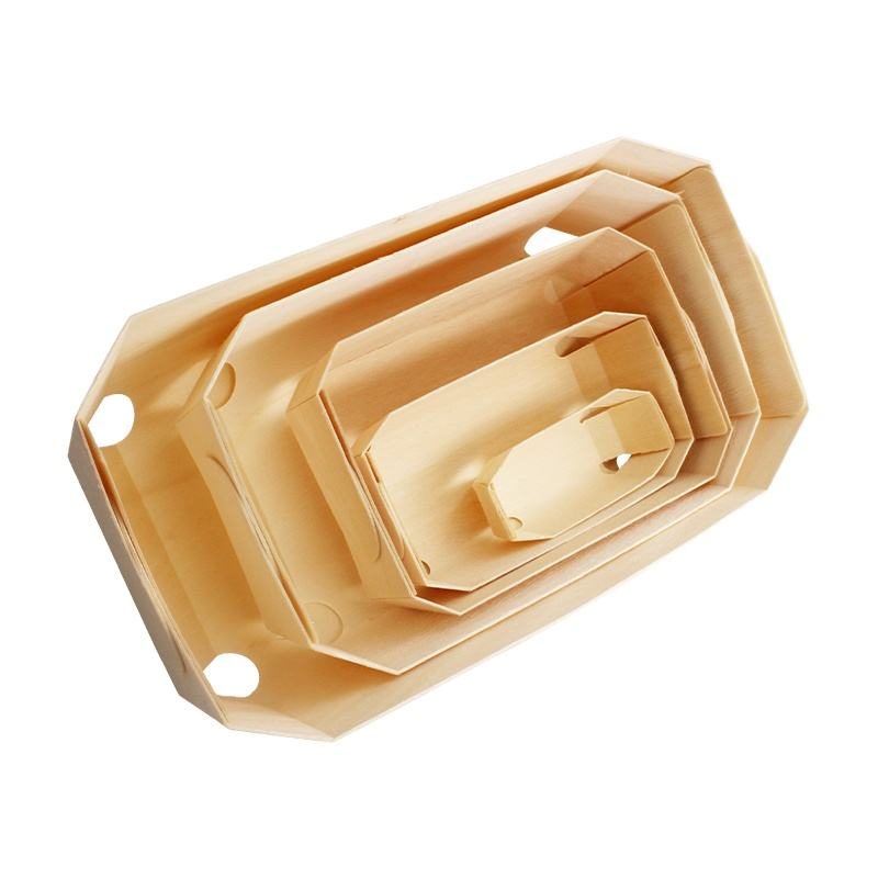 Wooden Cake Baking Pan with Baking Paper Loaf Pan Wood Baking Mold Bread Tray