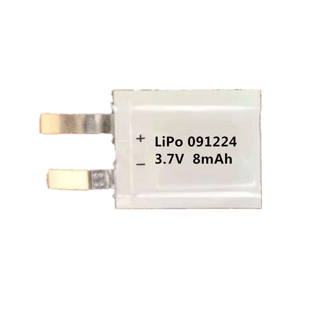 091224 customized size ultra small lithium polymer battery 3.7v 8mah mini rechargeable lithium polymer battery 091224