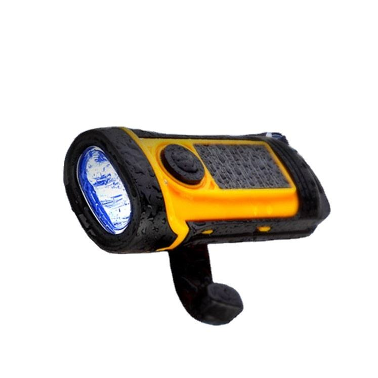 Impermeabile Solar Powered Led <span class=keywords><strong>Luce</strong></span> del Flash Mano A Gomito Torcia