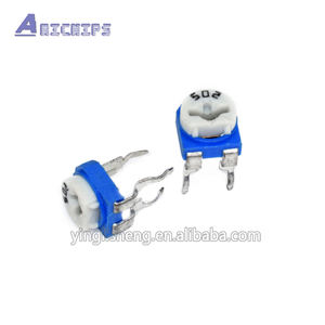 White Blue RM-065 Potentiometer 502 5000ohm 5K Variable Adjustable trimmer resistor