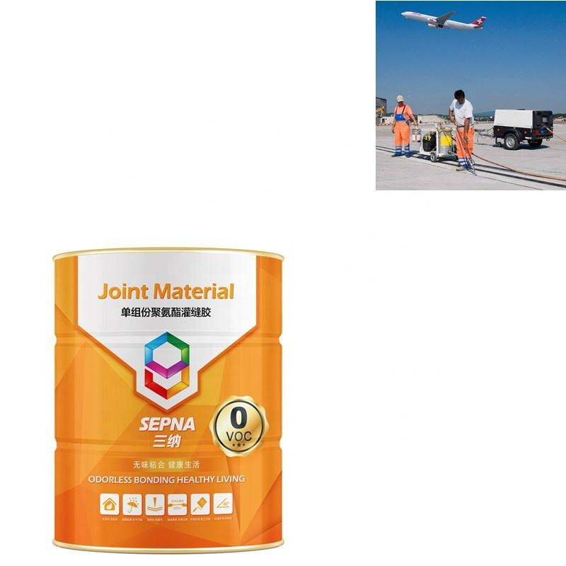 High performance Polyurethane sealant for the cracks repair of airport runway concrete expansion joins self-leveling sealant