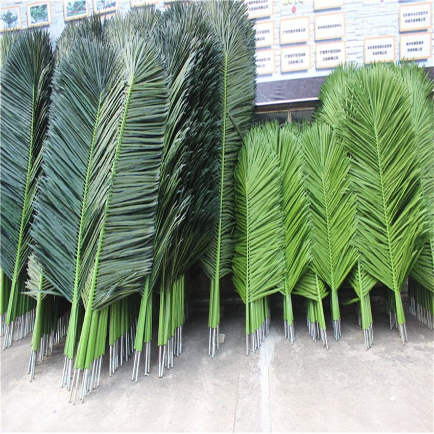Chinese factory UV proof quality artificial palm tree leaves/artificial coconut tree leaves for indoor or outdoor use