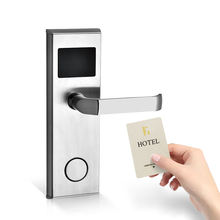 Security System 304 Stainless  Key Card Electronic RFID Hotel System Digital Electric Door Lock