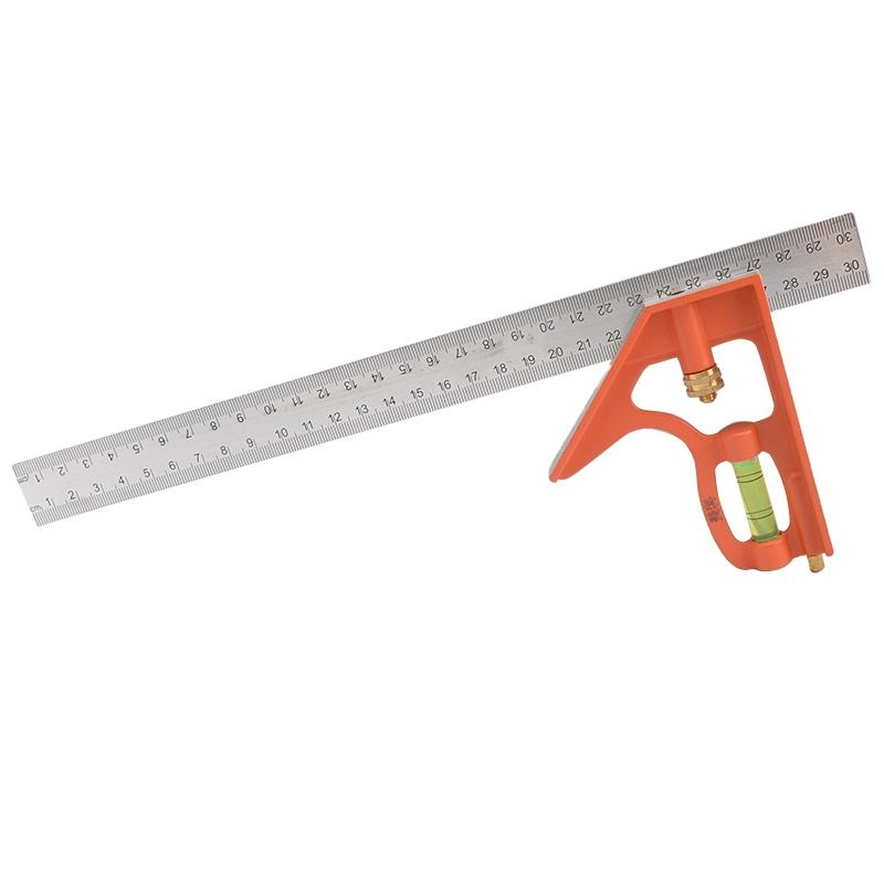 Combination Try Square Ruler 300mm Universal Angle Turner Stainless Steel Level Adjustable 45 Degree Measuring Tool