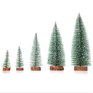 Snowing Emulated Plant Christmas Ornaments Gift Pine needle Wooden Christmas Tree
