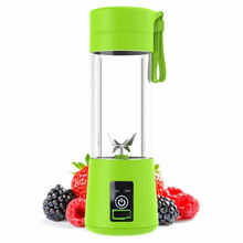 Personal Portable Blender with 480ml Travel Bottle, USB Rechargeable Single Served Smoothie Blender Six Blades