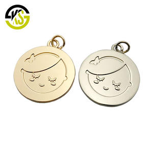 Handmade made zinc pendant tags jewelry custom stamped metal charms for suit