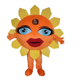 Hola yellow sun flower fancy dress costumes