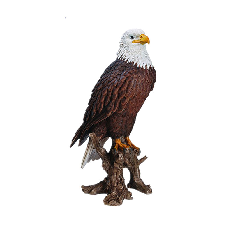 Vivid Wild Birds Arts American Bald Eagle Resin Ornament Handmade und Handpainted Resin Home und Garden Ornament für Sale