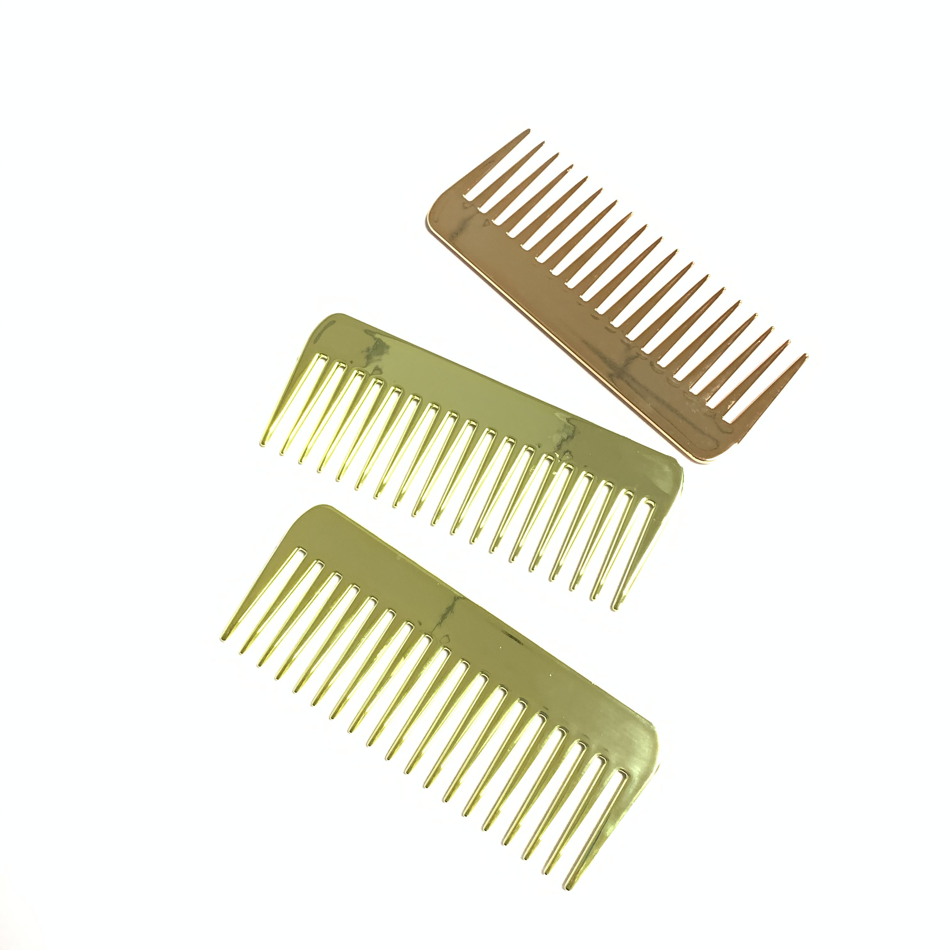 2020 New Comb Plastic Gold Wide Tooth Comb Hair Brush Tangle Gold Rose Gold Hair Comb