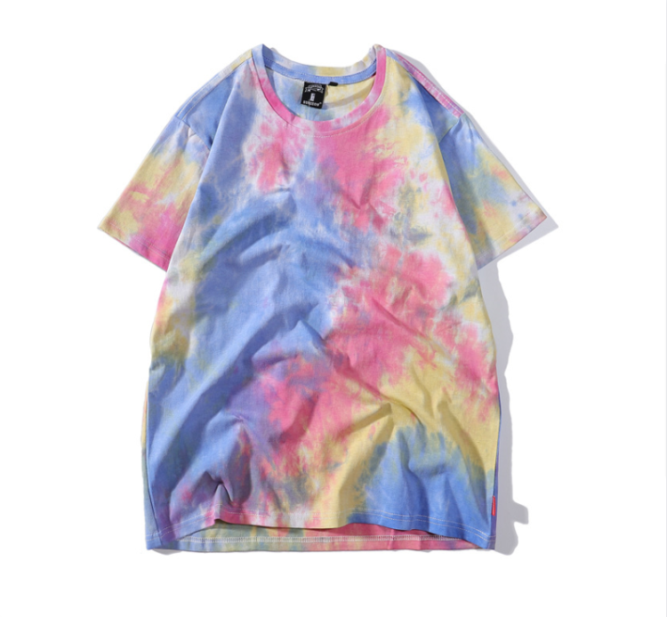 OEM Custom Design Tie And Dye Ripped Plain 100% Cotton Men T Shirts