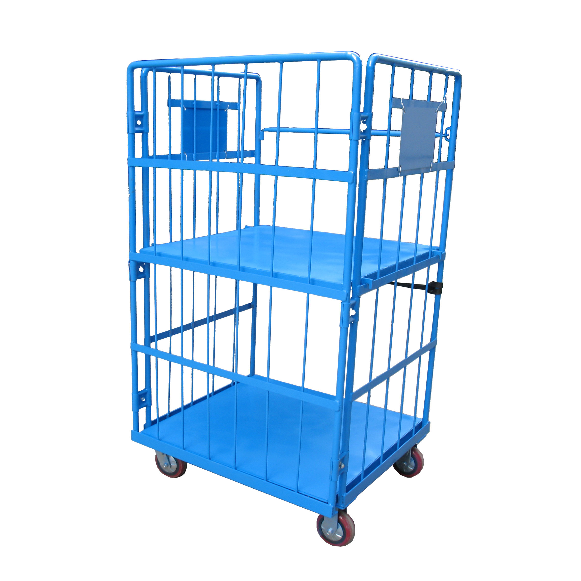 Foldable oversized load 500kg warehouse equipment industrial rolling cage trolley cart