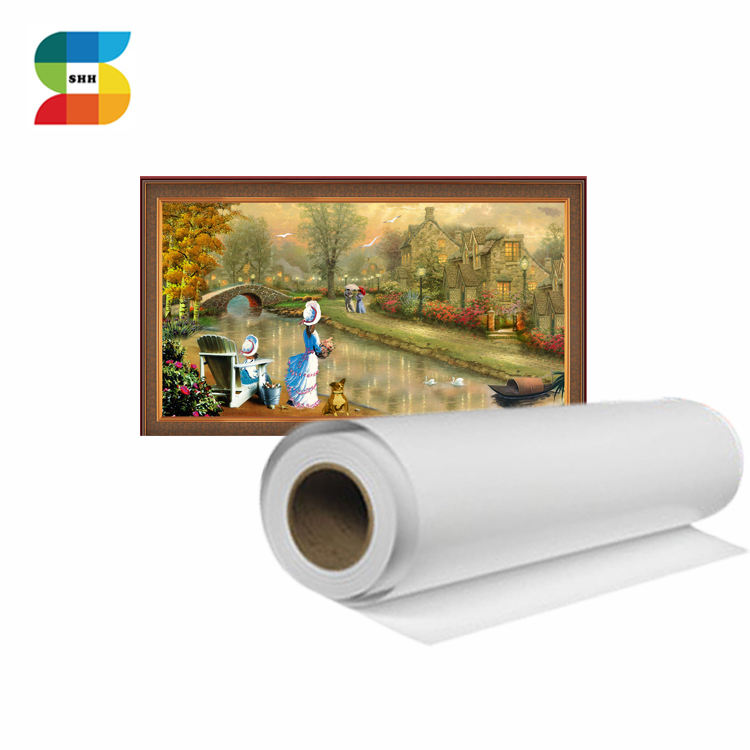 White Polyester Cotton Polycotton Canvas Fabric Rolls Digital Printing