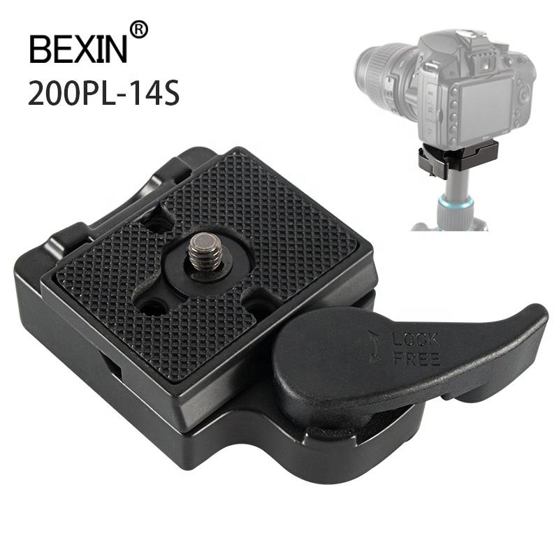 BEXIN Professional Custom OEM dslr camera Accessories 200PL-14 Quick Release QR Plate Clamp clip kit for Manfrotto tripod head