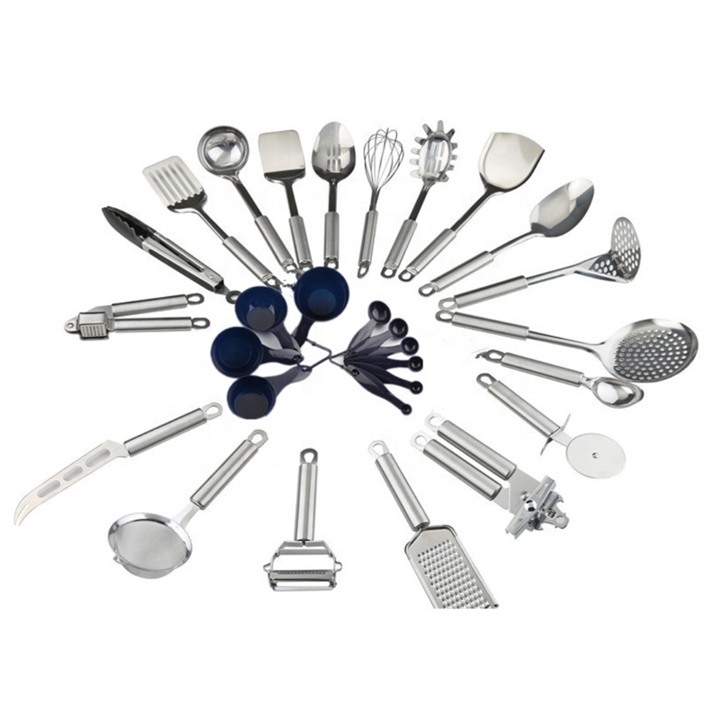 20 Piece Stainless Steel Kitchen Utensils Set Durable Cooking Gadgets and Tools Kit