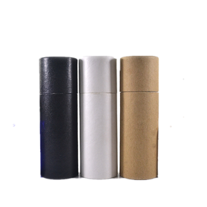 In stock black white kraft paper tubes fit 30ml dropper bottle