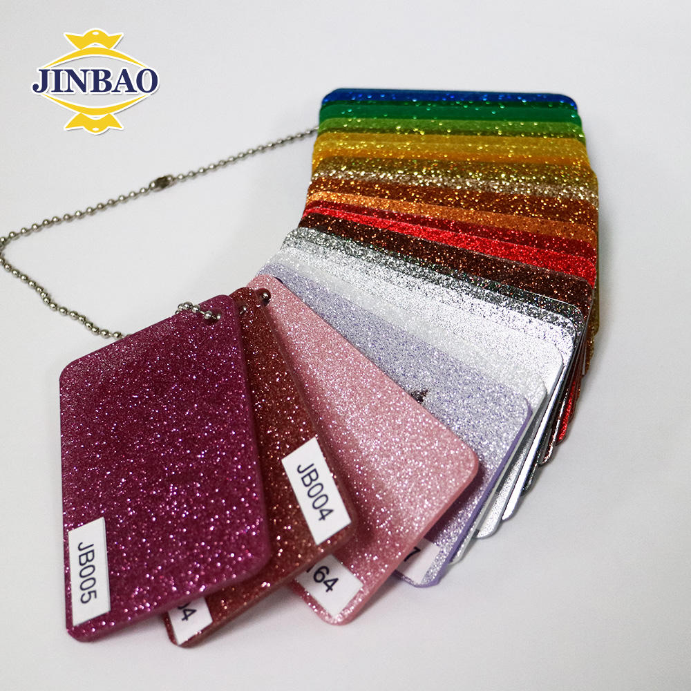 JINBAO charm printing game pieces 3mm price cheap cast acrylic sheet glitter