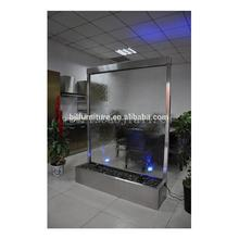 hotel glass divider waterfall screen for hotel supplies, water wall standing