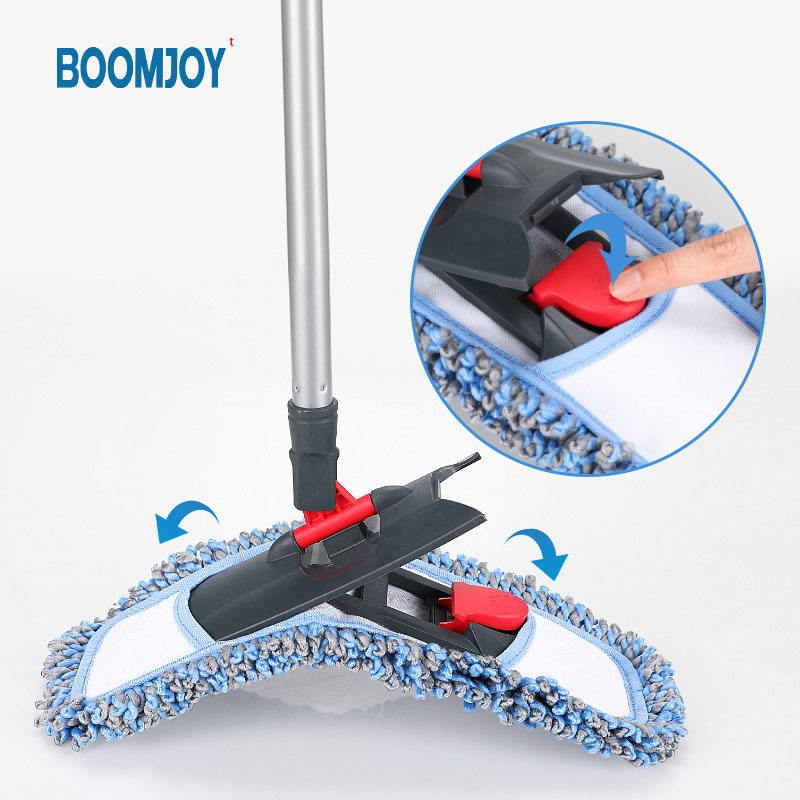 BOOMJOY new design magic Microfiber Floor Mop Long Handle chenille cleaning mop