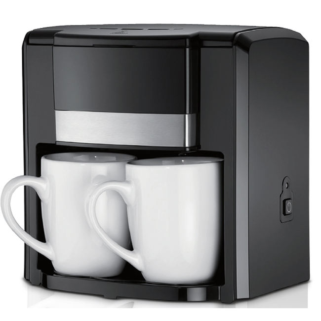 Wholesale mini espresso electric coffee maker with double cups