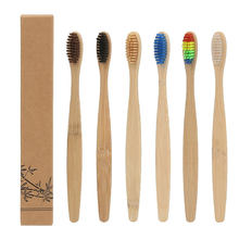 Wholesale 100 % Healthy Eco Organic Charcoal bamboo toothbrush with BPA free bristle / FDA