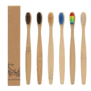 Wholesale 100 % Healthy Eco Organic Charcoal bamboo toothbrush with BPA free bristle
