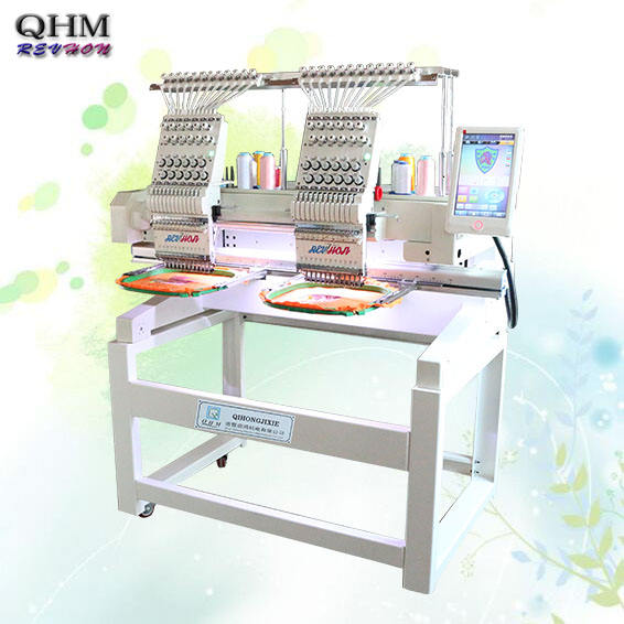 NEW PRODUCE 12 needle computerized embroidery machine double/2 heads flat embroidery machine safe and sound