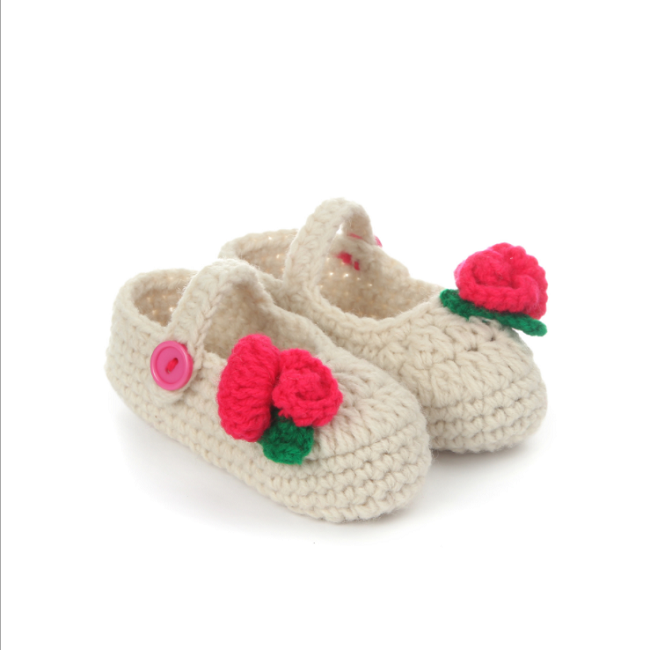 handmade flower shoes baby crochet sandal knit shoes