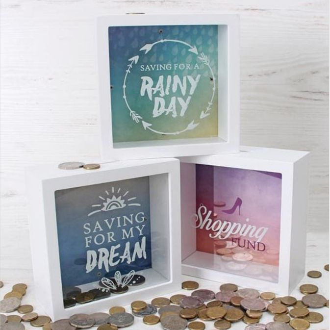 Splosh Change Box Coin Money Savings Fund Jar Container for Dream Fulfillment Saving Pot Money Box
