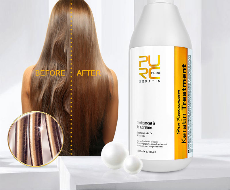 PURC Private Label Hair Care Oil Brazilian Keratin Repair Treatment Shampoo And Conditioner For Repair Damaged Hair