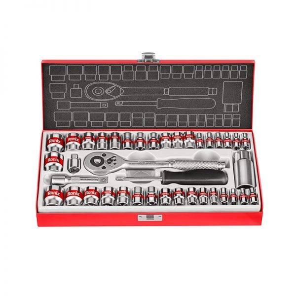 "Yato professional high quality ratchet socket set 1//2/"" 46 Pcs in handy case"
