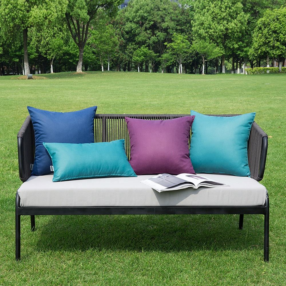Wholesale fashion waterproof outdoor pillow cover plain outdoor furniture cushions for home garden decor