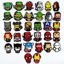 DIY HOT Marvel Super Heroes Soft PVC Patches Crafts Accessories Cartoon Ornaments
