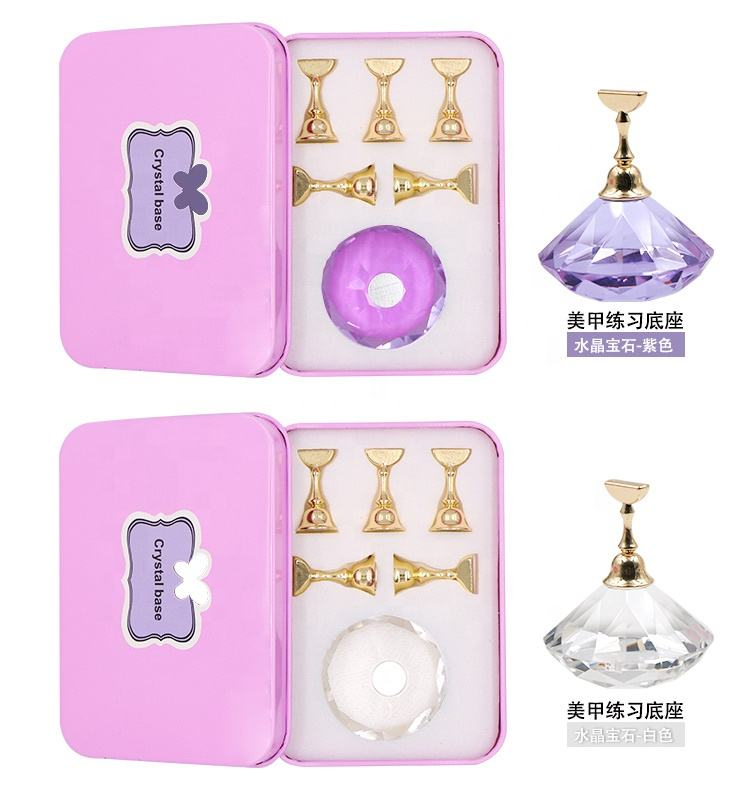 2019 rectangle Board Magnetic Nail Tip Holder Nail Art Acrylic Display Stand