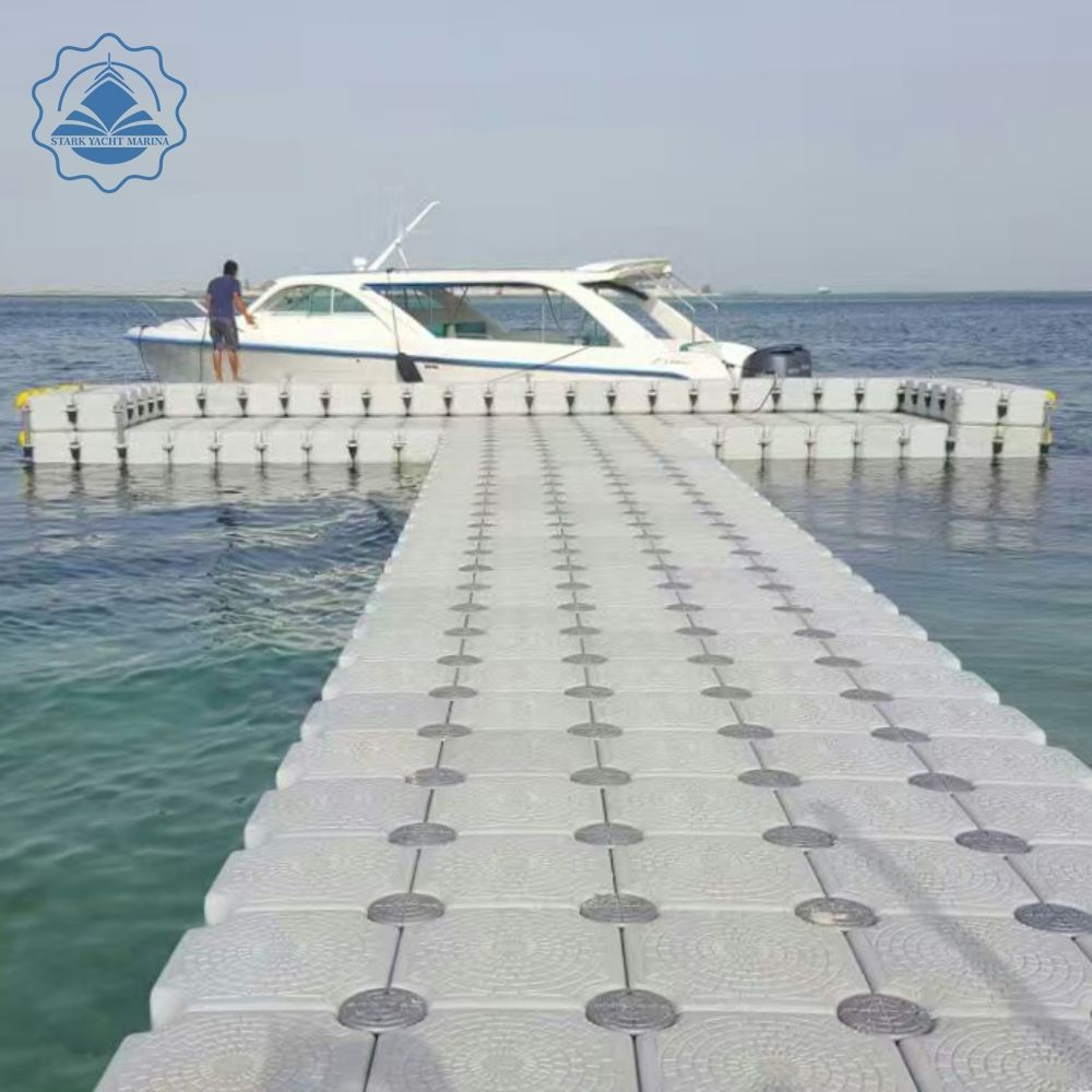 marine supplies summer fishing float HDPE Wholesale Durable double floating dock floating platforms plastic pontoon cubes